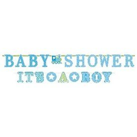 Banderin letras baby shower boy (2uds)