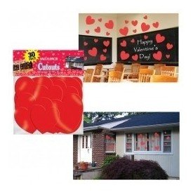 Decoracion Pared (30 pza) Corazones
