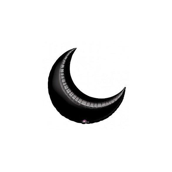 ✅Globo Forma Luna de 89 cm Aprox. Color NEGRO por solo 4,95€ en Masfiesta.es. Venta de Artículos de fiesta y decoración