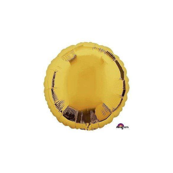 ✅Globo Con Forma de Circulo de Aprox 45cm Color ORO - por solo 1,13€ en Masfiesta.es. Venta de Artículos de fiesta y decoración