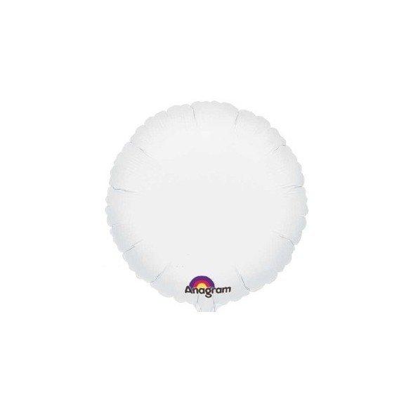 Globo Con Forma de Circulo de Aprox 45cm Color BLANCO -