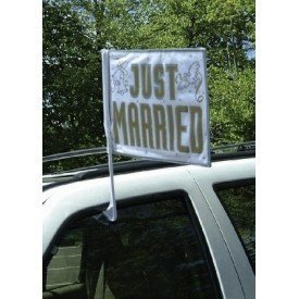 Bandera Coche Boda Just Married