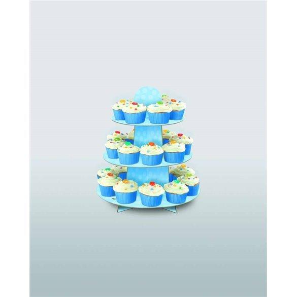 Stand Soporte Cupcake Azul