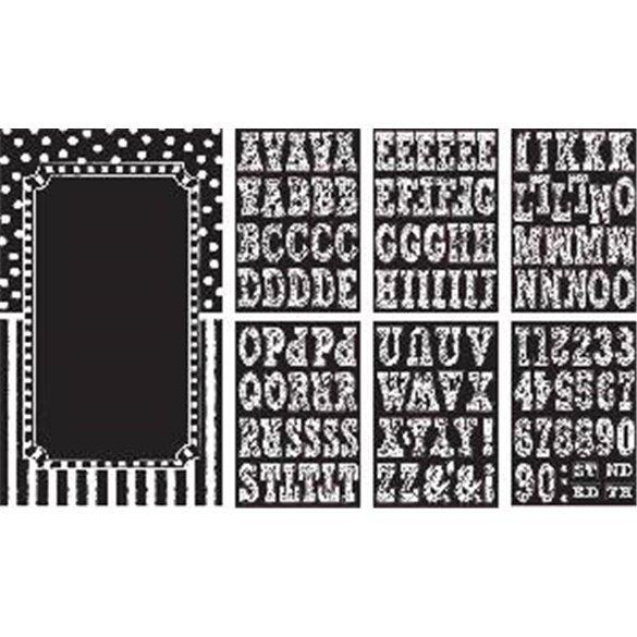 Decoracion puerta personalizable Black & White
