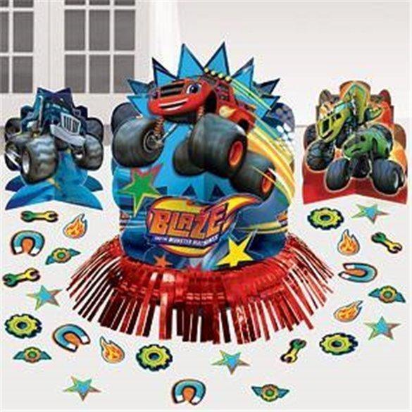 KIT decoracion mesa Blaze y los Monster Machines