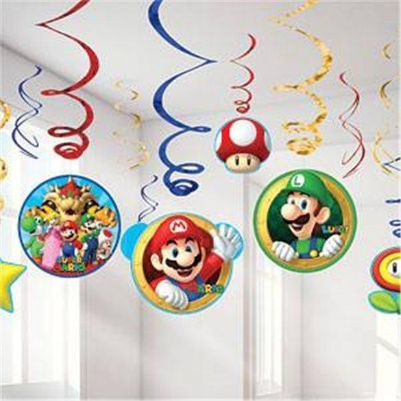 Decoración colgante (6x2) Super Mario Bross