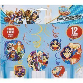 Decoracion Colgante (6x2) Super Hero Girls