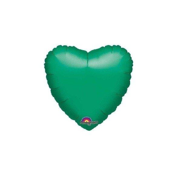 Globo Con Forma de Corazón de Aprox 45cm Color VERDE METAL