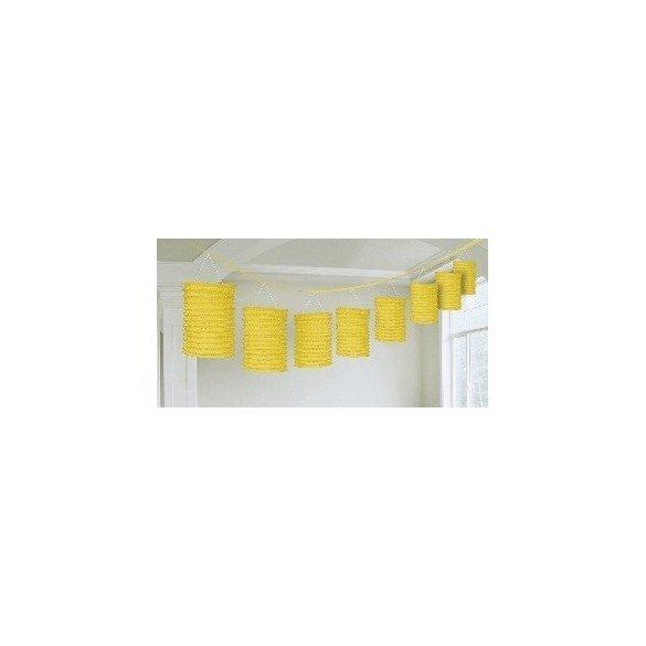 Guirnalda Farolillos Color Amarillo ( Farolillos de 10x14 cm de 3,6 M)