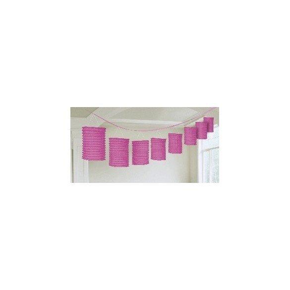 ✅Guirnalda Farolillos Color Rosa ( Farolillos de 10x14 cm de 3,6 M) por solo 6,45€ en Masfiesta.es. Venta de Artículos de fi...