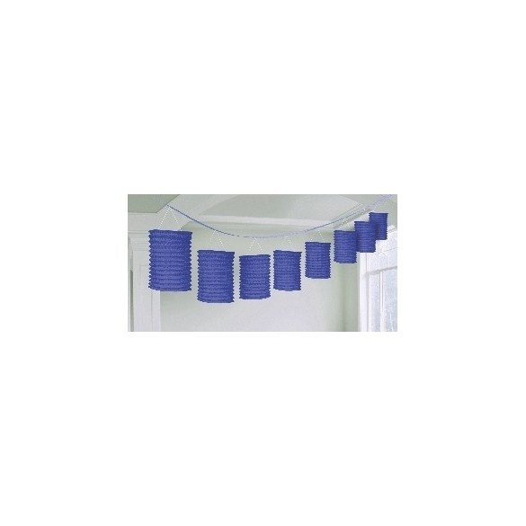 Guirnalda Farolillos Color Azul Fuerte ( Farolillos de 10x14 cm de 3,6 M)