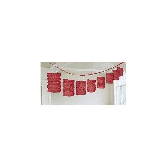 Guirnalda Farolillos Color Rojo ( Farolillos de 10x14 cm de 3,6 M)