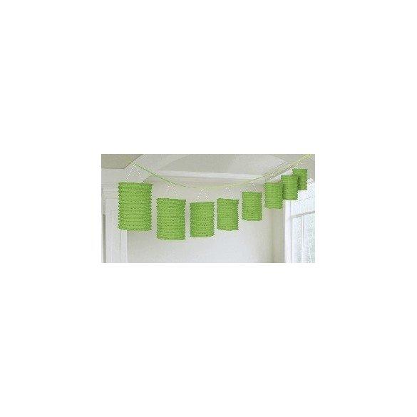 ✅Guirnalda Farolillos Color Verde ( Farolillos de 10x14 cm de 3,6 M) por solo 6,13€ en Masfiesta.es. Venta de Artículos de f...