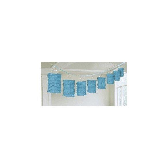 Guirnalda Farolillos Color Azul Caribe ( Farolillos de 10x14 cm de 3,6 M)