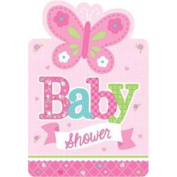 Invitaciones Baby Shower Girl 8