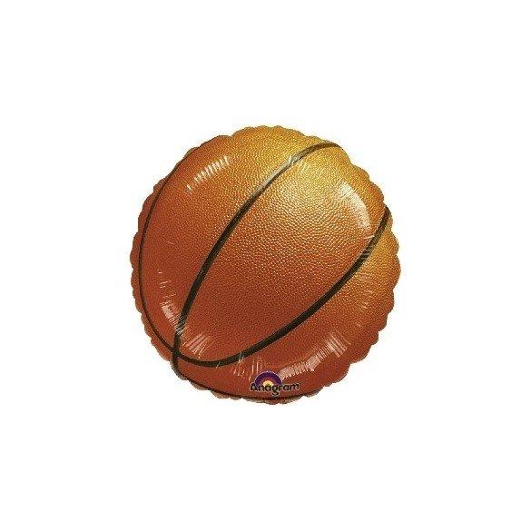 Globo Foil Redondo (45 cm) Baloncesto (Sin Inflar)