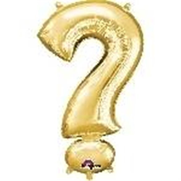 Globo Simbolo ? Mini de Color Oro (40 cm Aprox)