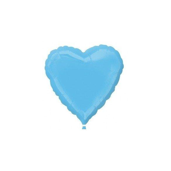 Globo Con Forma de Corazón de Aprox 45cm Color PALE BLUE