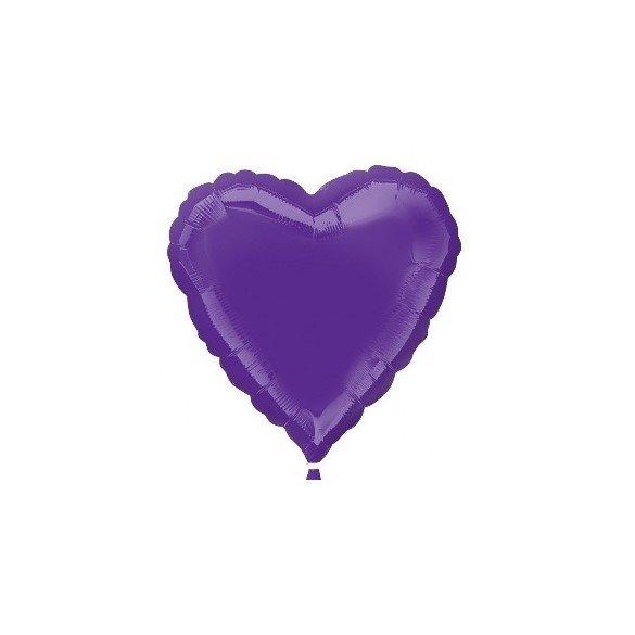 Globo Con Forma de Corazón de Aprox 45cm Color QUARTZ PRUPLE