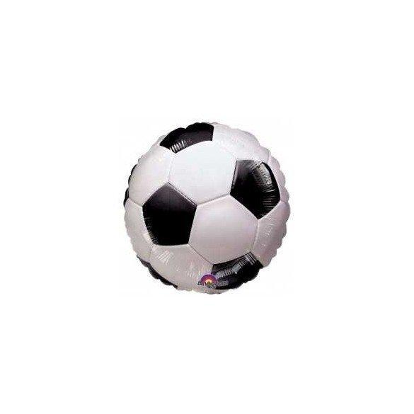 Globo Foil Redondo (45 cm) Futbol (Sin Inflar)