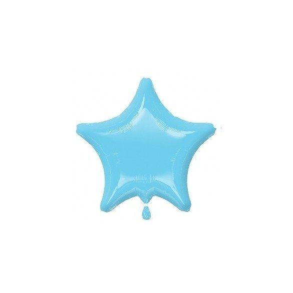 ✅Globo Con Forma de Estrella de Aprox 47cm Color AZUL PERLA IRIS por solo 1,13€ en Masfiesta.es. Venta de Artículos de fiest...