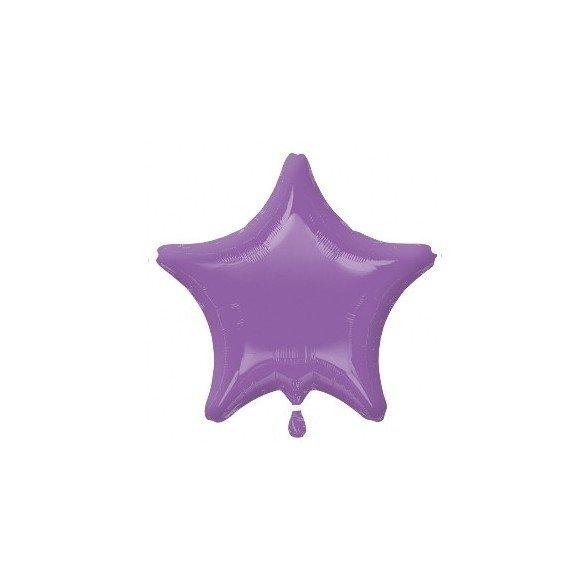 Globo Con Forma de Estrella de Aprox 47cm Color SPRING LILAC