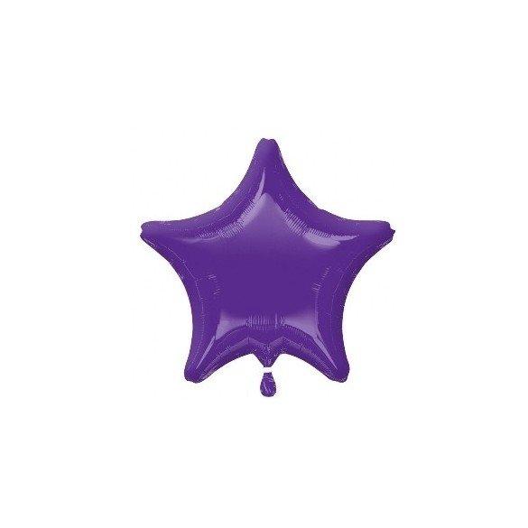 Globo Con Forma de Estrella de Aprox 47cm Color QUARTZ PRUPLE