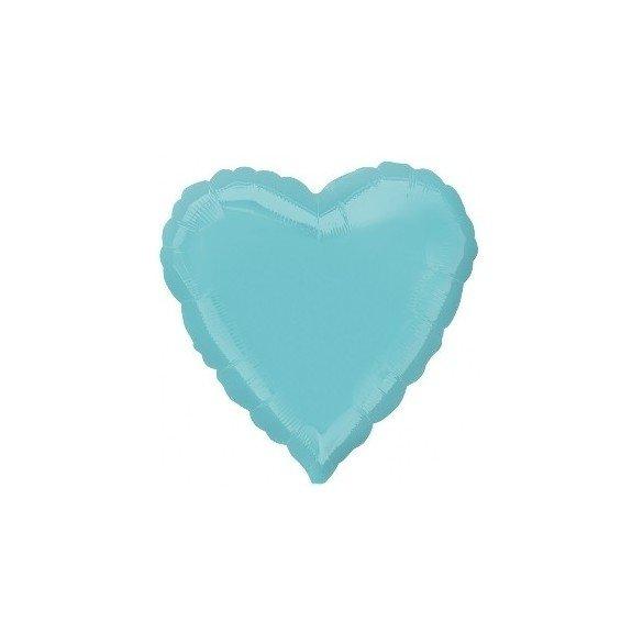 Globo Con Forma de Corazón de Aprox 45cm Color ROBIN EGG BLUE