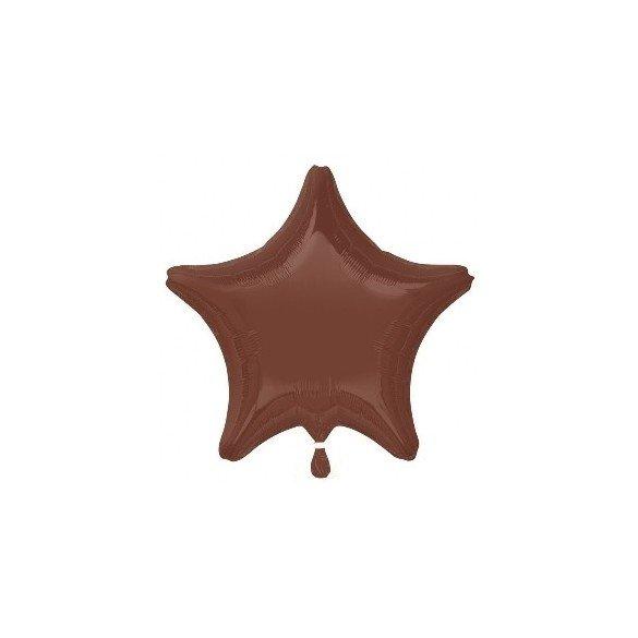 ✅Globo Con Forma de Estrella de Aprox 47cm Color CHOCOLATE por solo 1,35€ en Masfiesta.es. Venta de Artículos de fiesta y de...