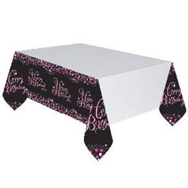 Mantel Happy Birthday Prismatic Rosa/Negro9900572 Amscan