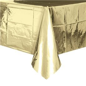 Mantel Oro Brillo PlastificadoUN-50411 Unique