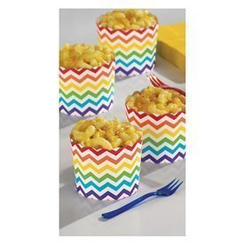 Vasos Tarrinas Snacks Rayas Chevron Colores (24)