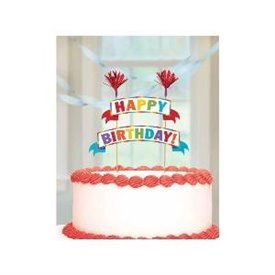 Topper Tarta Happy Birthday Colores9902319 Amscan