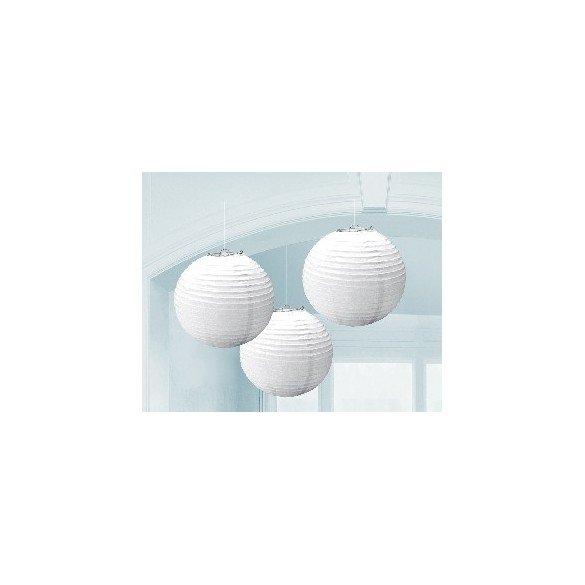 Linternas Colgantes Color Blanco (3 de 20,4 cm)