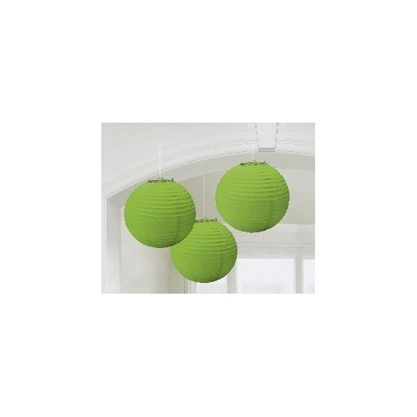 ✅Linternas Colgantes Color Verde (3 de 20,4 cm) por solo 7,16€ en Masfiesta.es. Venta de Artículos de fiesta y decoración