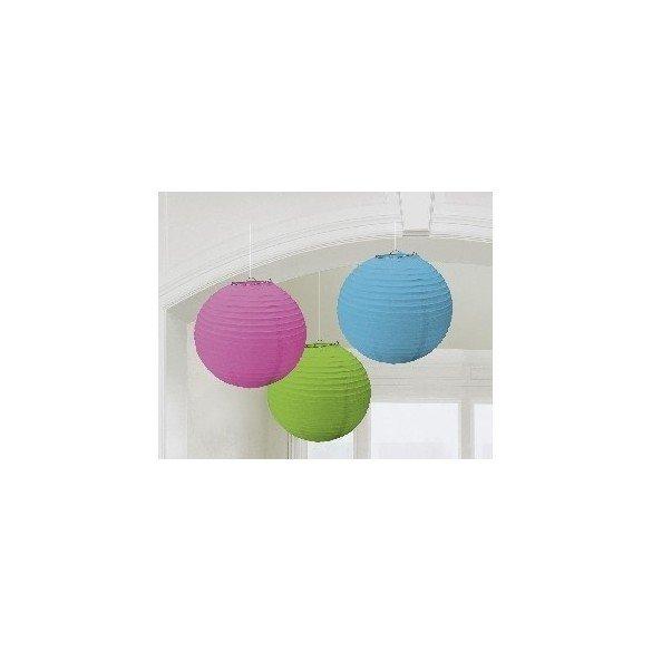 ✅Linternas Colgantes Color Multicolor (3 de 20,4 cm) por solo 7,55€ en Masfiesta.es. Venta de Artículos de fiesta y decoración