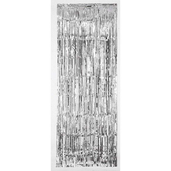 Decoracion Cortina Puerta Color Plata ( 2,4m x 91 cm)