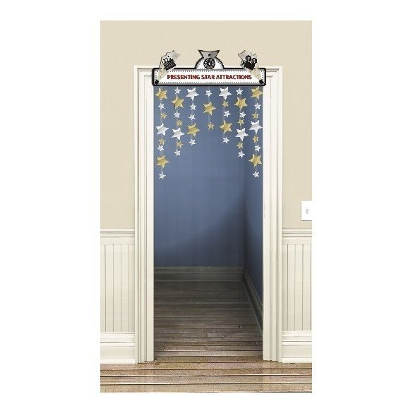Decoracion Colgante Puerta Hollywood Luces-Camara-Accion