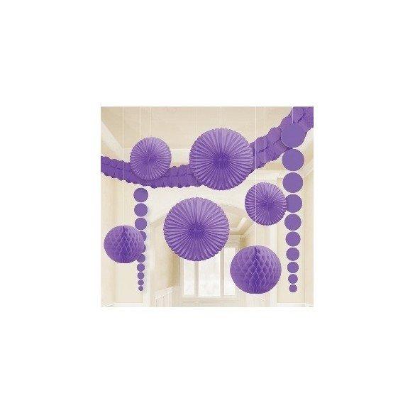 ✅Kit Decoracion Color Morado por solo 11,95€ en Masfiesta.es. Venta de Artículos de fiesta y decoración