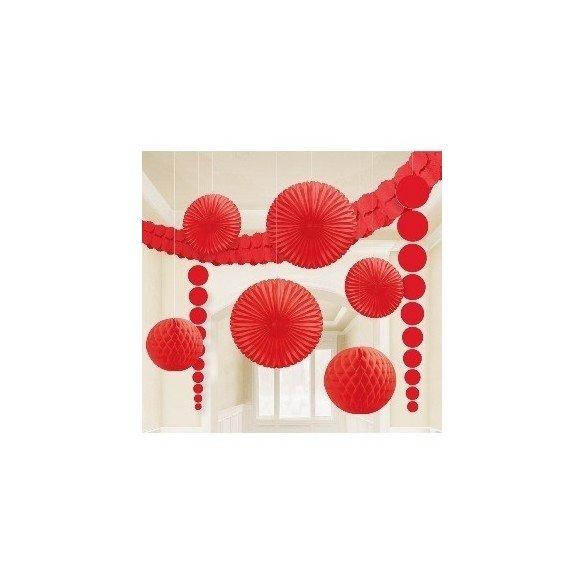 ✅Kit Decoracion Color Rojo por solo 10,75€ en Masfiesta.es. Venta de Artículos de fiesta y decoración