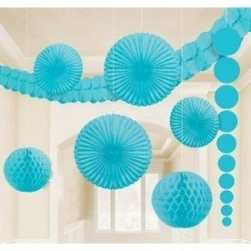 Kit Decoracion Color Azul Caribe