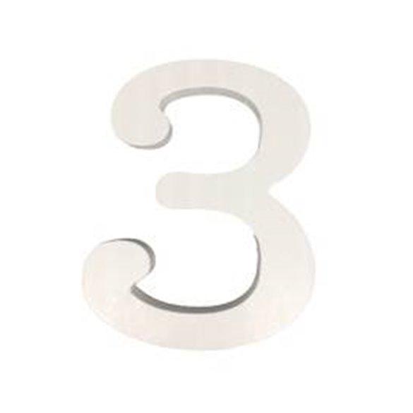 ✅Número 3 de Madera de 11 cm Aprox por solo 1,75€ en Masfiesta.es. Venta de Artículos de fiesta y decoración