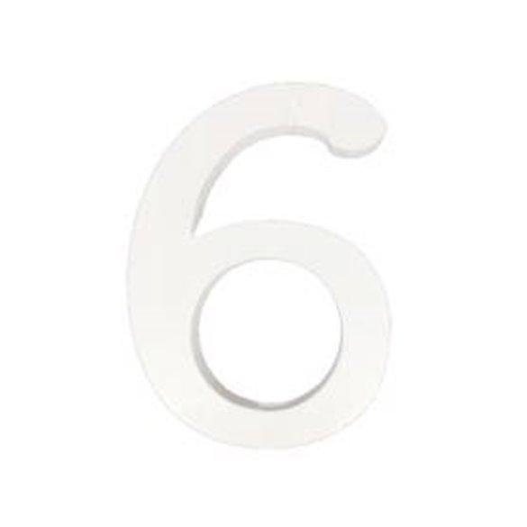 ✅Número 6 de Madera de 11 cm Aprox por solo 1,75€ en Masfiesta.es. Venta de Artículos de fiesta y decoración