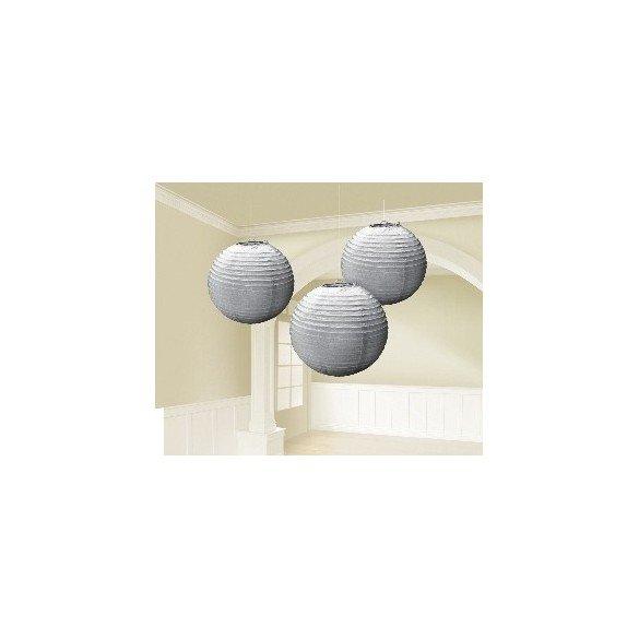 Farolillos (3) Plata de 24 cm de Diametro