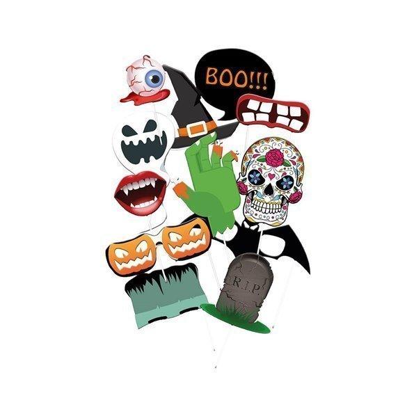 ✅Accesorios Photocall Halloween (12 piezas) por solo 3,56€ en Masfiesta.es. Venta de Artículos de fiesta y decoración