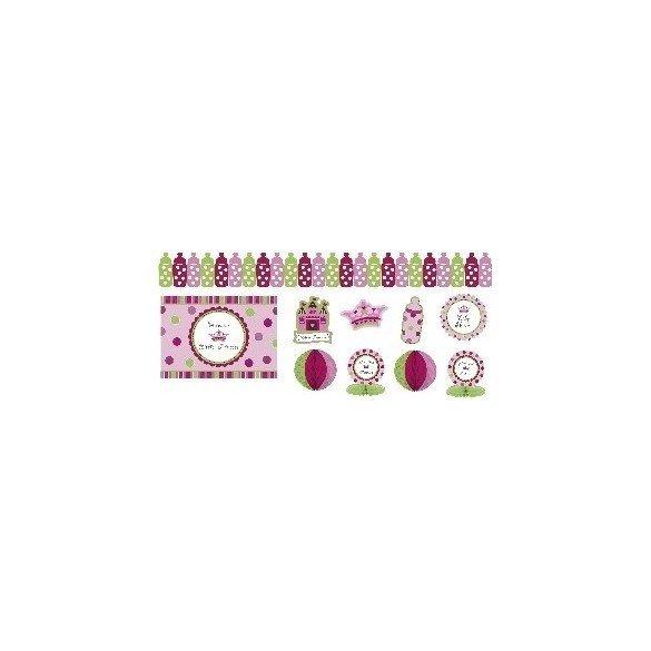 ✅Kit Decoracion Pequeña princesa por solo 7,82€ en Masfiesta.es. Venta de Artículos de fiesta y decoración