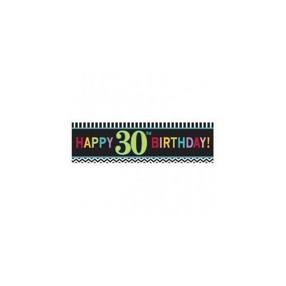 ✅Banderin chevron de 1,65 m 30 Cumpleaños por solo 6,13€ en Masfiesta.es. Venta de Artículos de fiesta y decoración