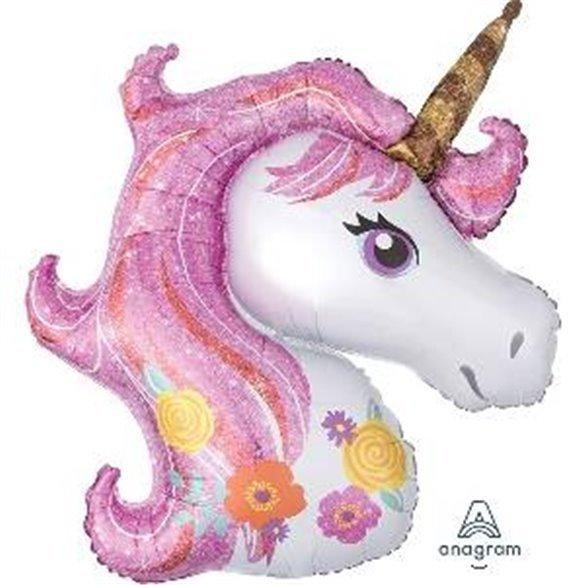 ✅Globo Unicornio Mágico 83x73cm por solo 4,50€ en Masfiesta.es. Venta de Artículos de fiesta y decoración