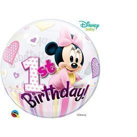 Globo Baby Minnie 1 Burbuja Bubble