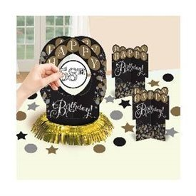 Centro de mesa Happy Birthday personalizable